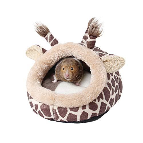 Petyoung Små djur varmt hus, hållbar chinchilla igelkott marsvin sängtillbehör bur leksaker vinter varm mysig bo för illerråtta hamster livsmiljö