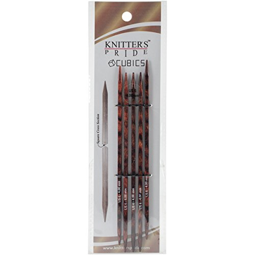 Knitter's Pride 6/4mm Cubics Double Pointed Needles, 6'