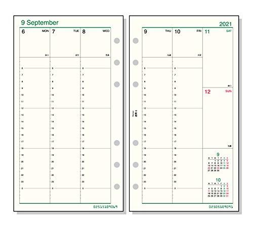 レイメイ藤井ダヴィンチ手帳用リフィル2021年バイブルサイズウィークリーDR21162020年12月始まり週間6