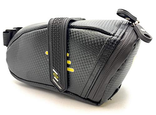 TerraWest Core Bike Saddle Pouch, Under Seat Storage Bag, Weatherproof, Reflective, Lightweight