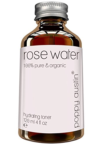 Pure Rose Water Facial Toner by Poppy Austin - Vegan Certified, Cruelty-Free & Organic - Finest, Triple Purified Moroccan Rosewater for Skin, 4 oz