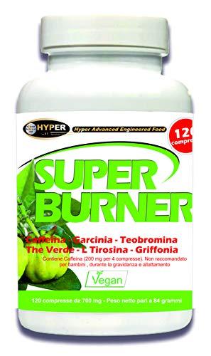 Super Burner 120 tabletas Quemador Adelgazante Potente Para Adelgazar Rápidamente el Abdomen, los Muslos y los Glúteos, Quemadores de Grasa Termogénico Para Perder Peso