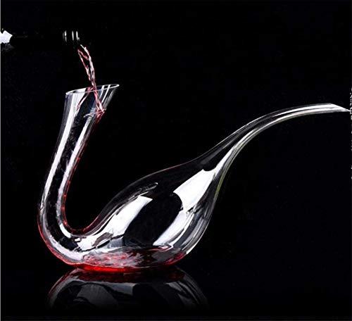 Decantador de vino de cristal hecho a mano, Cráneo de cristal Vino Decantador de vino y gafas Conjunto de vino tinto Antter - Mano Spresado 100% Línea de plomo CRISTAL CRISTAL VINO ANTER, Cisne creati