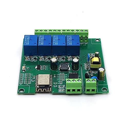 ZRYYD ESP8266 ESP-12F WiFi-Relais-Modul 4-Kanal AC90-250V / DC7-30V / 5V-Verzögerungsrelaisschalter für Arduino-IDE Smart Home IOT-Fernbedienung