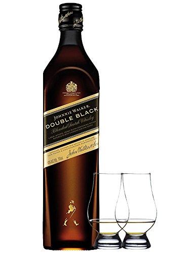 Johnnie Walker Double Black 0,7 Liter + 2 Glencairn Gläser