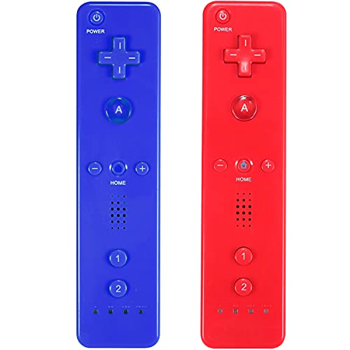 Yosikr Wireless Remote Controller for Wii Wii U - 2 Packs Red and Deep Blue