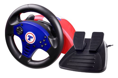 Thrustmaster Kart Challenge NW - Volante/mando (Rueda \+ Pedales, Wii, GameCube, Con cables, Negro) Black