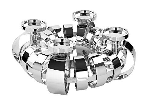 Fink - ANELLO - Dekokranz - Kerzenleuchter - Leuchter - 4-flammig - vernickelt - D: 40 cm