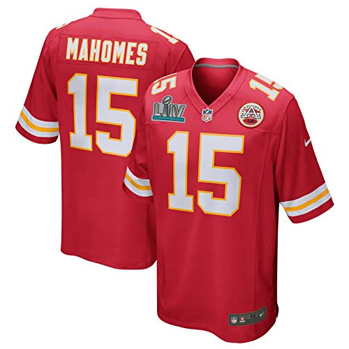 Nike Patrick Mahomes Super Bowl LIV Kansas City Chiefs Red Game Jersey- Size Men's Large