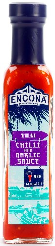 ENCONA Thai Chilli and Garlic Sauce 142ml [Chili u. Knoblauch] Bottled in the UK