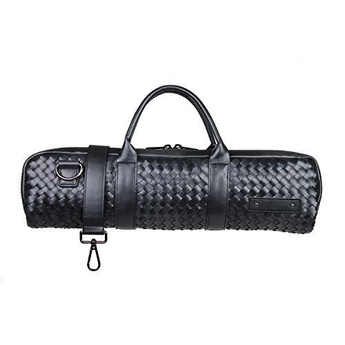 """Beaumont """"Black Weave"""" Querflötenkoffer Querflötentasche H-Fuß handgemacht Instrumententasche Umhängetasche Etui Hülle für Flöte Lightcase als Accessoire für Querflöte"""