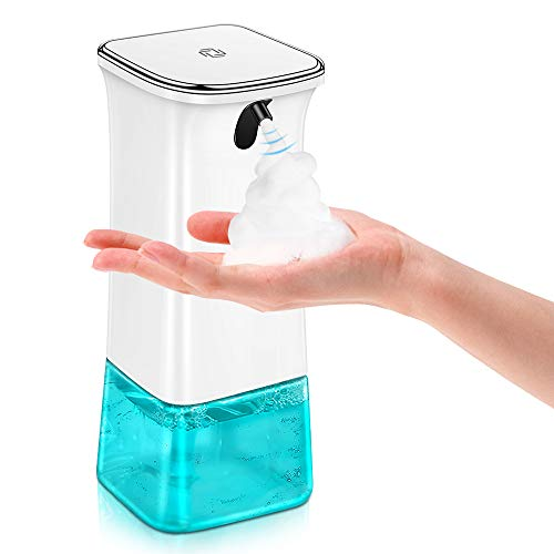 VEEAPE Seifenspender Automatisch, Schäumende Seifenspender mit Sensor Infrarot, Berührungslos Schaumseifenspender mit 2 Einstellbare Schaummenge für Bad & Küche