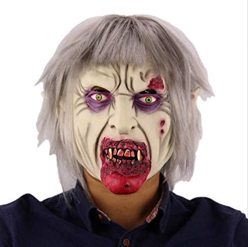tytlmask griezelig eng latex masker, halloween cosplay kostuum masker, horror clown masker hoed, voor volwassenen partij decoratie props grappige man
