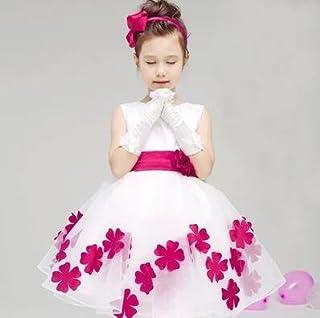 LuckyYumi 子供ドレス 女の子 ピアノ 発表会 パーディー 演奏会 フォーマル 入園式 結婚式 ワンピース (130cm, バラー)