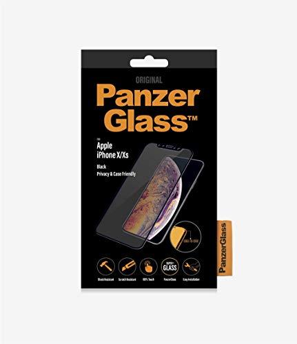 PanzerGlass Privacy \'Edge-to Edge\' Displayschutz (Case Friendly) für Apple iPhone X/XS, Black