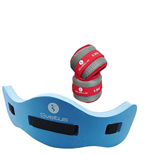 Sveltus Aqua Jogging Gürtel mit Aqua Gewichtsmanschetten Fitness