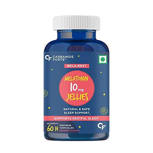 Carbamide Forte Sleeping Pills Melatonin 10mg Gummies for Better Sleep - 60 Veg Gummies