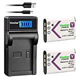Kastar Battery (X2) & LCD Slim Charger for NP-BY1 EN-EL11 LI-60B DLI-78 DB-L70 DB-80 and Sony Action Cam Mini HDR-AZ1 Nikon Coolpix S550 S560 Olympus FE-370 Optio L50 M50 M60 S1 V20 W60 W80