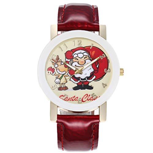 サンタクロースシリーズベルト時計男性と女性の腕時計