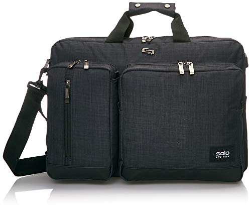 Solo New York Duane Hybrid Convertible Laptop Briefcase, Slate, One Size