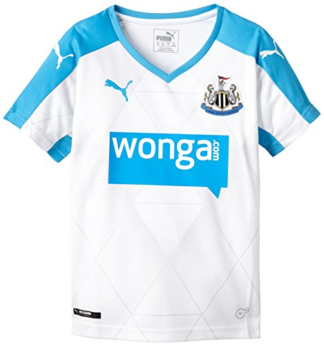 Puma Herren Trikot Newcastle Alternate Replica Shirt with Sponsor, White, Hawaiian Ocean, 164, 747892 02