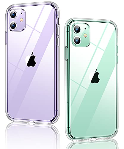 Humixx Diamond Crystal Clear Designed for iPhone 11 Case [15X Anti-Yellowing] [3X Military Grade...