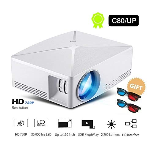 HD Proyector HD Mini C80 / C80UP, resolución 1280x720, Proyector ...