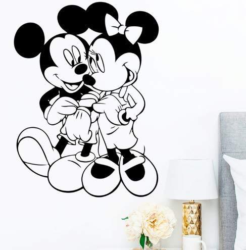 wandtattoo Cartoon Maus Tapete geeignet für Kinderzimmer Kinderzimmer Wohnkultur Disney Tapete Vinyl Wandbild DIY Tapete 58 * 78cm