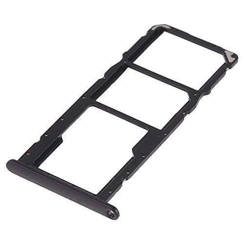 Carrello Vassoio (NERO) alloggio tray porta scheda nano Sim1+ SIM 2 + SLOT SLITTA Alloggio Memoria Micro Sd CARD COMPATIBILE PER HUAWEI Y6 2019 HONOR 8A PLAY 8A JAT AL00 TL00 L29 LX1 LX2