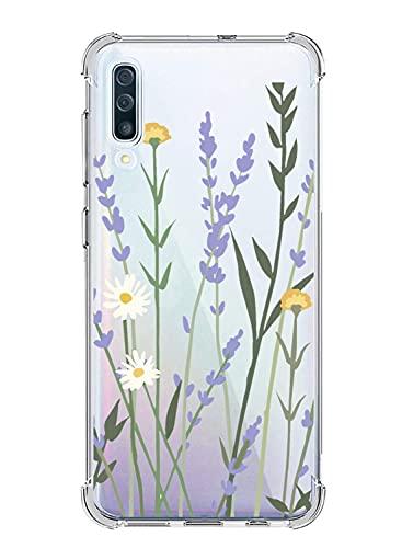 Suhctup Funda Suave Floral Compatible con Xiaomi Redmi Note 5A,Antigolpes Transparente Silicona TPU Ultrafina Cuatro Esquinas Reforzado Resistencia Caídas Diseño Caso con Flores Patrón