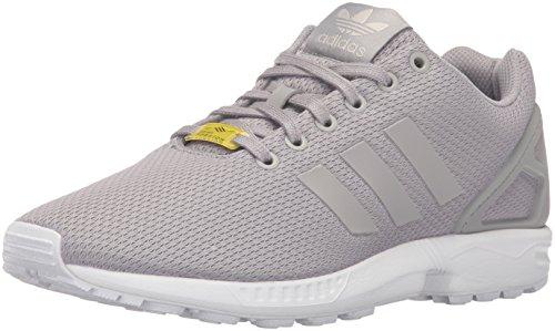 adidas Originali Zx Flux scarpe da ginnastica moda 9.5 UK Colore grigio (bianco di alluminio/alluminio/esecuzione)