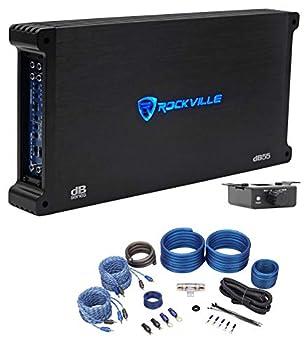 Rockville dB55 4000 Watt Peak/980w RMS 5 Channel Car Amplifier + Amp Kit