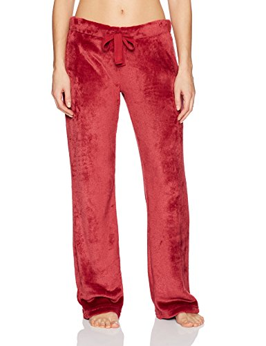 Cherokee Women's Plush Pant, Rumba red, Large