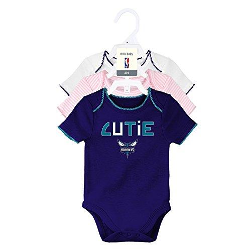 """NBA San Antonio Spurs Newborn """"3Rd Quarter"""" 3Piece Onesie Set, 3-6 Months, Light Pink, White, Heather Grey"""