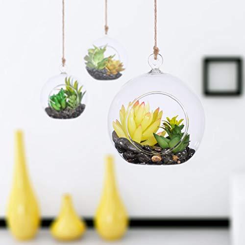 KnikGlass 80 mm Hängende Kristall GlasTeelicht Kerzenhalter, Glaskugeln für Teelichthalter, Kreative Haus Hängende Glasball Heimdekoration Glaskugel Geburtstag Dekoration(18 Pcs/Set)