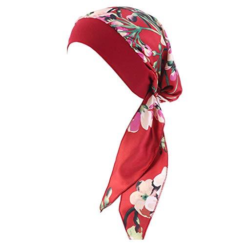 YONKOUNY Cancer Turbante Quimioterapia Para Mujeres Elegante Verano Sombrero de Chemo Oncológico Bufanda de La Cabeza Cómodo Tejido De Seda Headwear Gorro Noche Pèrdida de Pelo Cabello (#10)