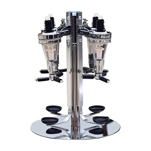 Wood.L Soporte Giratorio para 4 Botellas En Caja De Regalo | Dispensador De Optics Giratorio para Bebidas