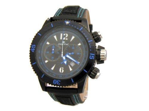 Oskar Emil Spar bl – Reloj para Hombres, Correa de Cuero Color Negro