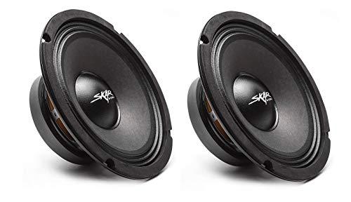 (2) Skar Audio FSX8-4 350-Watt 8-Inch 4 Ohm MID-Range Loudspeakers - 2 Speakers