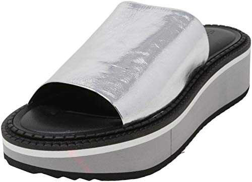 Clergerie Fastie Silver/Black Sole 39.5 (US Women's 9) M