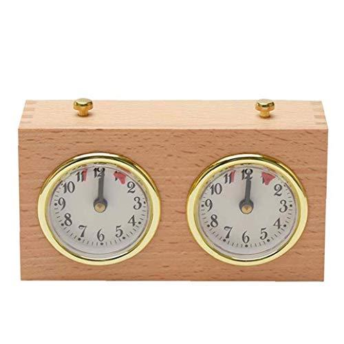 Ohomr Ajedrez Ajedrez Temporizador analógico Reloj de Juego de Madera Temporizador mecánico Conde Arriba Abajo de Competencia