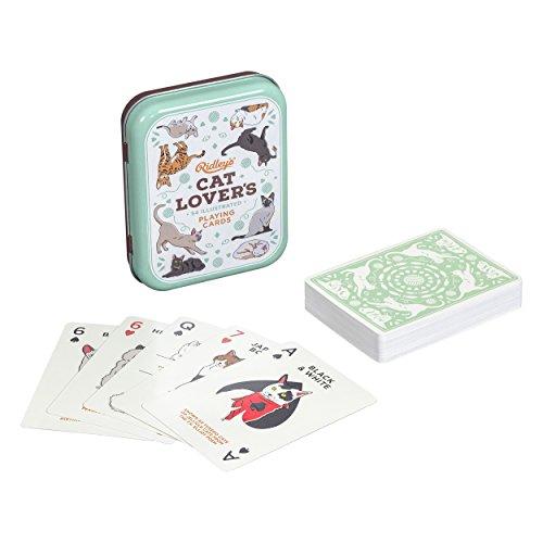 Ridley's Spielkarten für Katzenliebhaber, handillustrierte Karten.