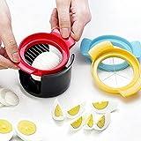 Affettatrice per uova,Acciaio Inossidabile Tagliauova,multifunzione tagliauova,3 in 1,tagliare di uova sode,insalate, fragole, funghi,Taglierina pomodori Utensile cucina,affettatrice Manuale per Uova
