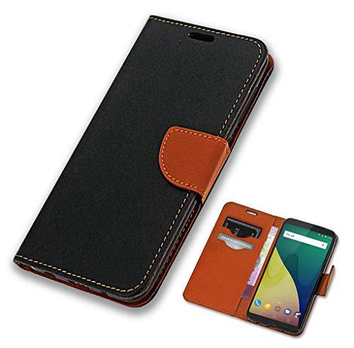 CoverOne Handyhülle für Wiko View XL Hülle, Premium Leder Flip Schutzhülle Handytasche Hülle Cover für Wiko View XL Tasche