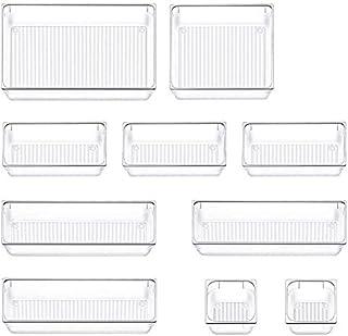 Queta 10Pcs Boîte de Rangement de Tiroir Bacs de Rangement en Plastique Boîte de Stockage Compartiment Organisateur de Maq...