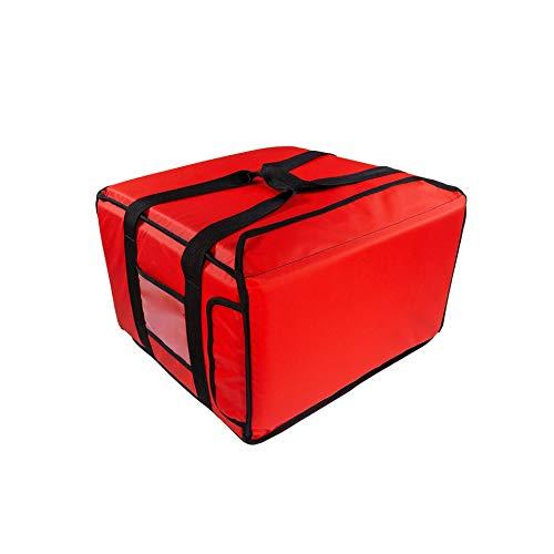 PizzaBag, Premium Pizza-Liefertasche für Lieferdienste (45 * 45 * 25 cm, Rot)