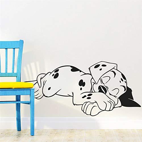 Wandaufkleber Dekorative Aufkleber Wand Dekoration Wandbilder Schöne Süße Traum Dalmatinischen Hunde Wandaufkleber Pet Puppy Vinyl Wandtattoo Wand Poster Kinder Kindergarten Kinder Schlafzim