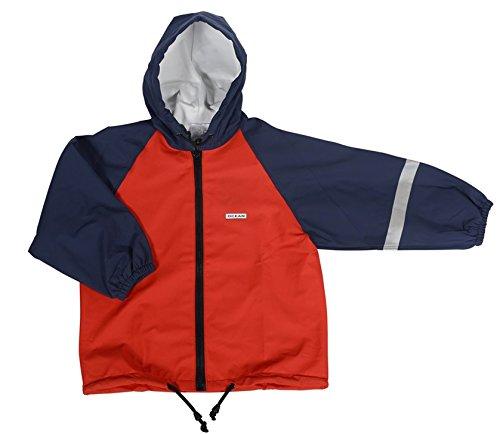 Ocean PU Wind- und Regenjacke für Mädchen - Jacke in Rot (134/140)
