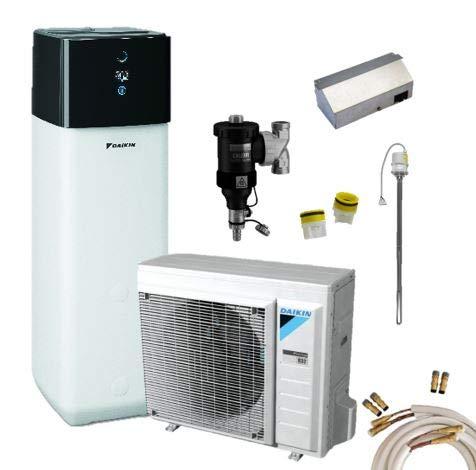 Daikin Altherma 3 R - Set di pompe di calore ad aria, 4 kW + 300 l, H+K