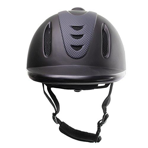 SunniMix 馬術用ヘルメット 乗馬用ヘルメット 乗馬用品 安全 低プロファイル 調整可能 4サイズ選択 ABS ベルト付 - L